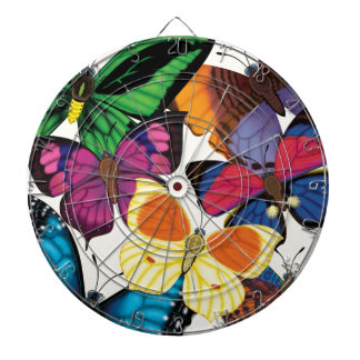 Butterflies of the World Dartboard With Darts
