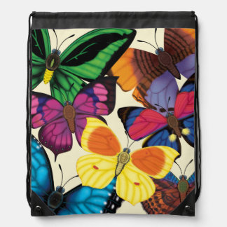 Butterflies of the World Drawstring Bag