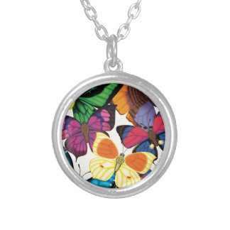 Butterflies of the World Silver Plated Necklace