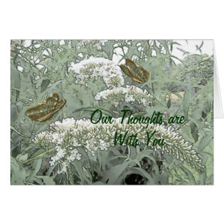Butterflies on a Butterfly Bush- customize Card
