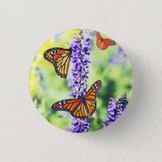 Butterflies on Hyacinth 1 Inch Round Button
