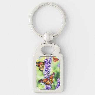 Butterflies on Hyacinth Keychain