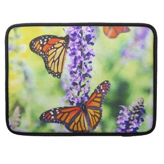 Butterflies on Hyacinth MacBook Sleeve