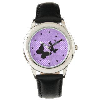 Butterflies on Polka Dots Design Watch
