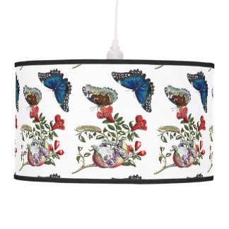 Butterflies on pomegranate pendant lamp