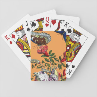 Butterflies on pomegranate playing cards