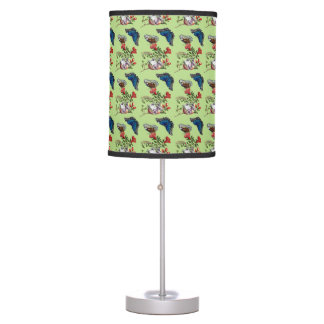 Butterflies on pomegranate table lamp