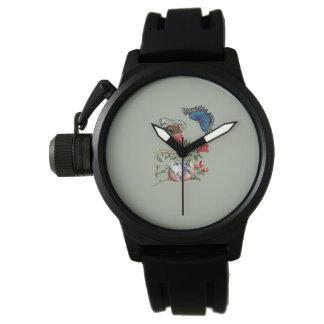 Butterflies on pomegranate watch