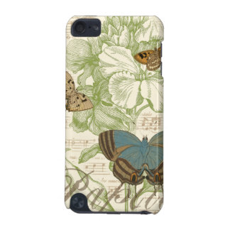 Butterflies on Sheet Music with Floral Design iPod Touch (5th Generation) Cases