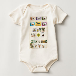Butterflies on stamps 1 baby bodysuit
