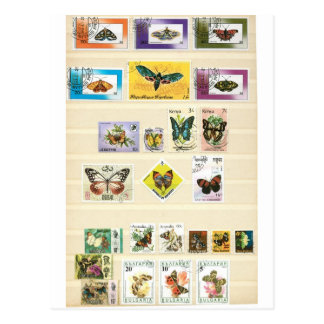 Butterflies on stamps 1 postcard