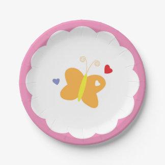 Butterflies Paper Plate