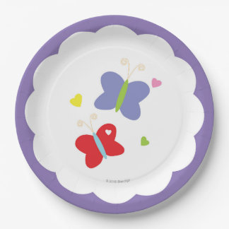 Butterflies Paper Plate 9 Inch Paper Plate