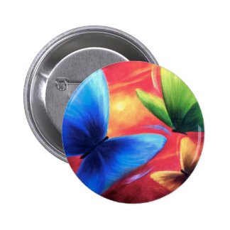 Butterflies Party Art Painting - Multi 2 Inch Round Button
