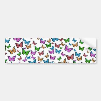 Butterflies Pattern Design Bumper Sticker