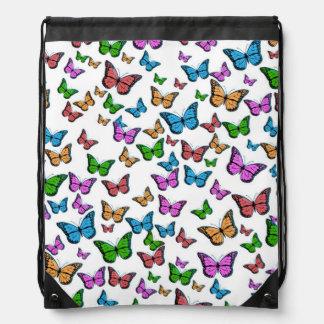 Butterflies Pattern Design Drawstring Bag