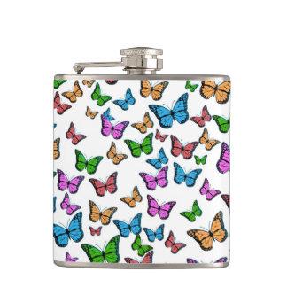 Butterflies Pattern Design Hip Flask