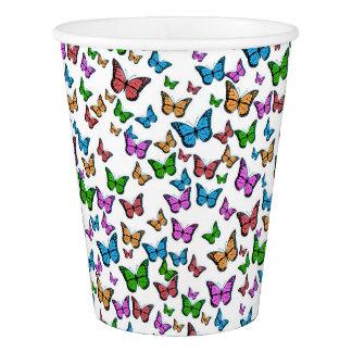 Butterflies Pattern Design Paper Cup