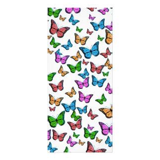 Butterflies Pattern Design Rack Card