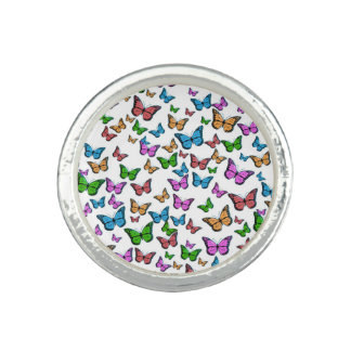 Butterflies Pattern Design Ring