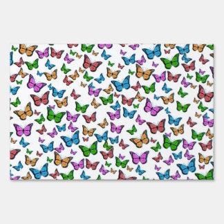 Butterflies Pattern Design Sign