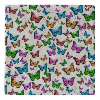 Butterflies Pattern Design Trivet