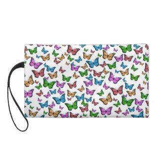 Butterflies Pattern Design Wristlet