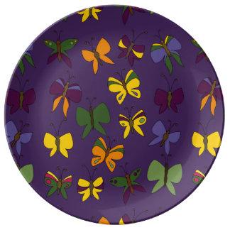 Butterflies Pattern Porcelain Plates