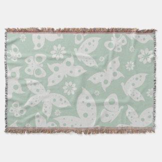 Butterflies Pattern Throw Blanket