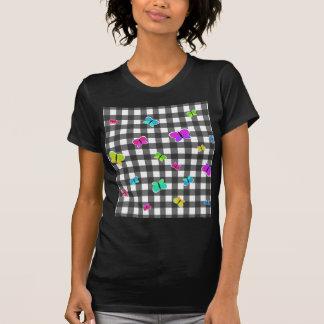 Butterflies plaid pattern T-Shirt