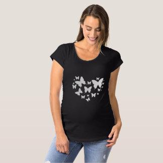 Butterflies Pregnancy Maternity Black Top