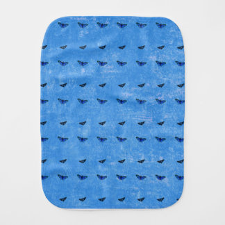 Butterflies print burp cloth