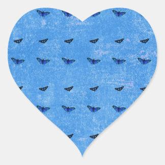 Butterflies print heart sticker