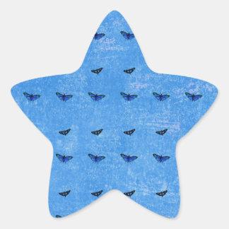 Butterflies print star sticker