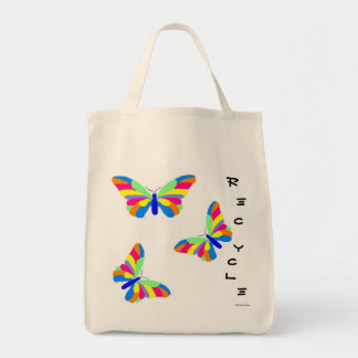 Butterflies Recycle Grocery Bag