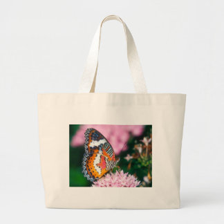 butterflies red lacewing butterfly large tote bag