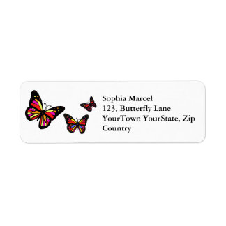 Butterflies Return address label