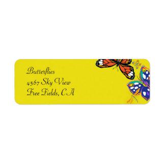 'Butterflies' Return Address Label
