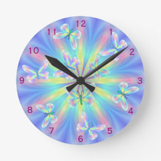 Butterflies round the clock! round clock