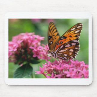 butterflies rounds social butterfly mouse pad