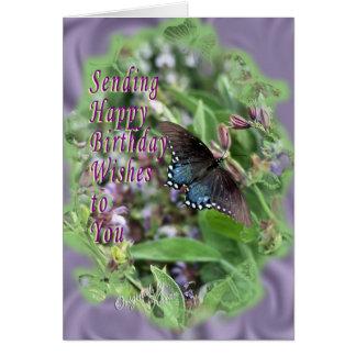 Butterflies & Sage-customize it Card