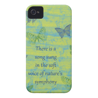 Butterflies Song Case-Mate iPhone 4 Cases
