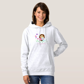 """""""Butterflies"""" sweater shirt with hood"""