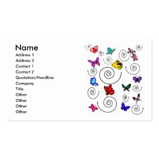 Butterflies swirl business cards
