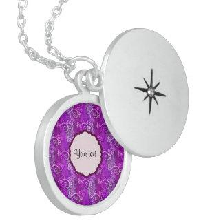 Butterflies & Swirls Round Locket Necklace