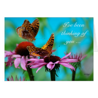 Butterflies - thinking of you card