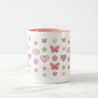 Butterflies Two-Tone Coffee Mug