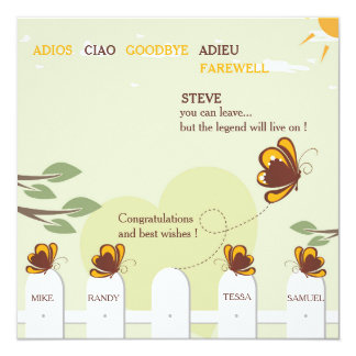 Butterflies Whimsical Farewell Party Invitation