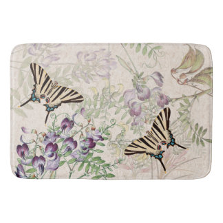 Butterflies Wildlife Wildflower Flowers Bath Mat