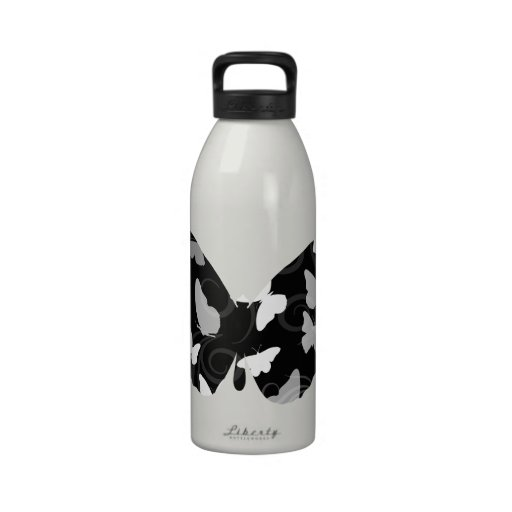 Butterflies with Swirls Drinking Bottle